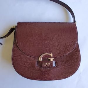 Guess Patent Leather Saddle Bag